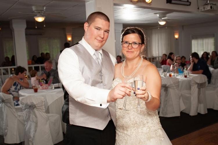 Newlyweds cheers