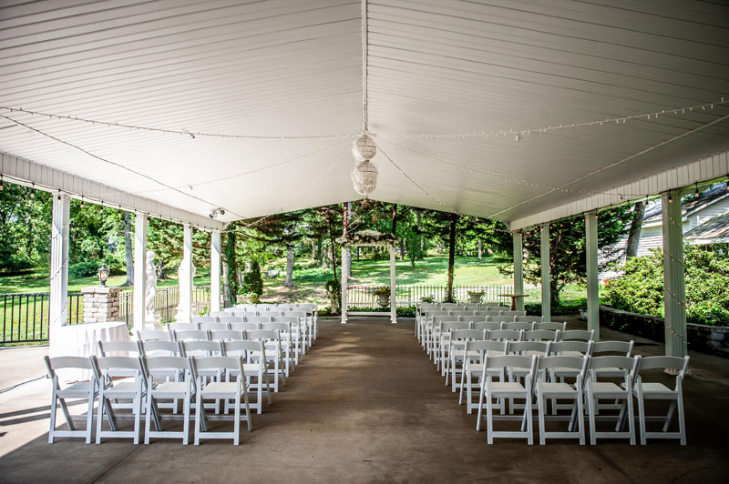 Pavilion wedding ceremony space