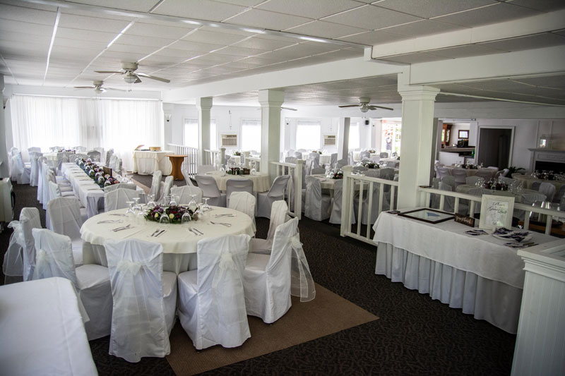 Banquet hall for wedding reception