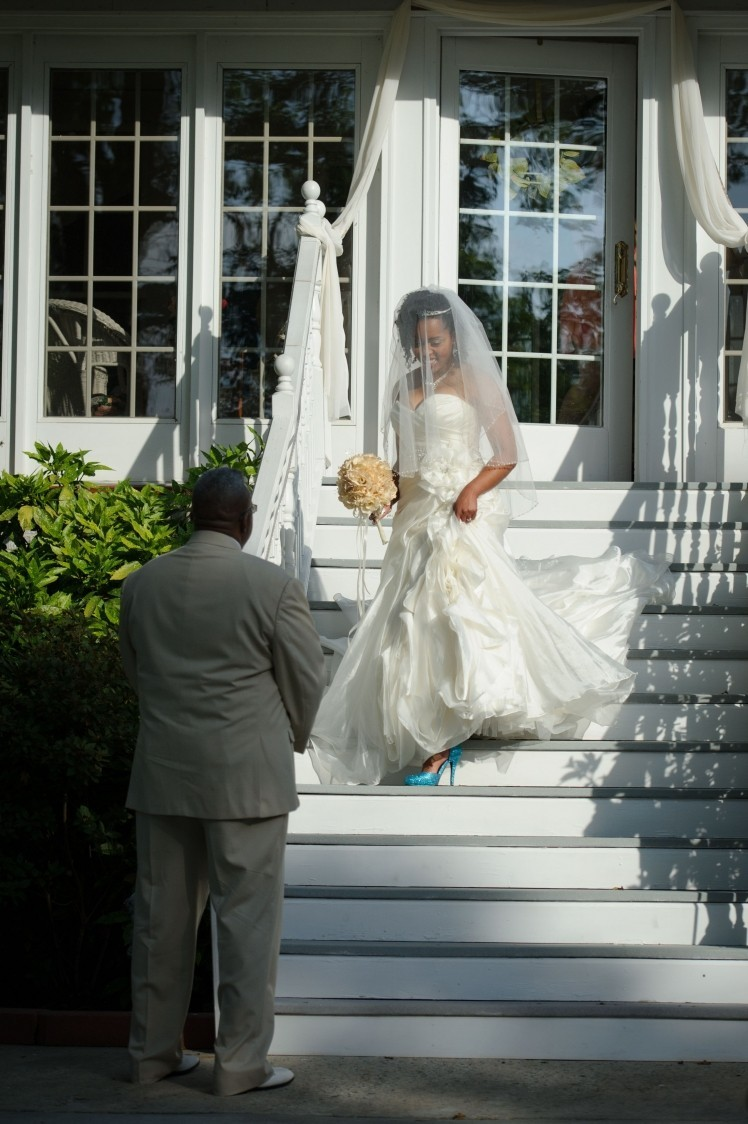 krystal coming down the white stairs may 16