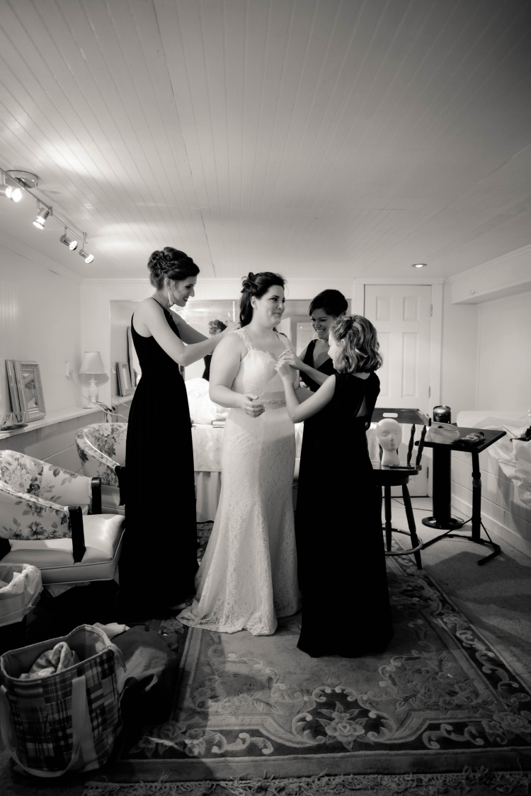 oct bride in dressing room
